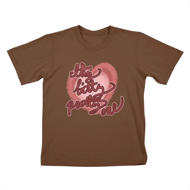 Itty Bitty Pretty One Kids T-Shirt by nireleetsac's Artist Shop