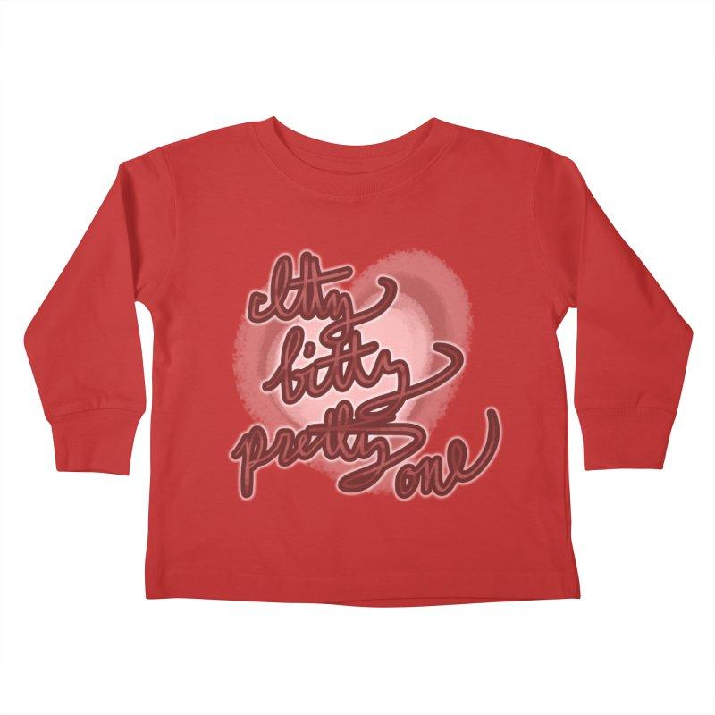 Itty Bitty Pretty One Kids Toddler Longsleeve T-Shirt by nireleetsac's Artist Shop