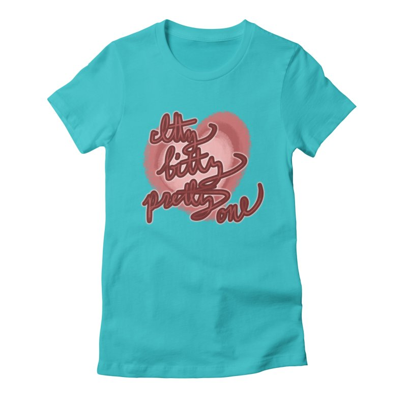 Itty Bitty Pretty One Women's Fitted T-Shirt by nireleetsac's Artist Shop