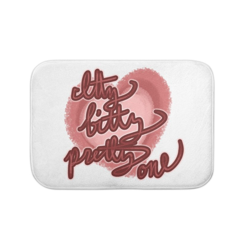 Itty Bitty Pretty One Home Bath Mat by nireleetsac's Artist Shop