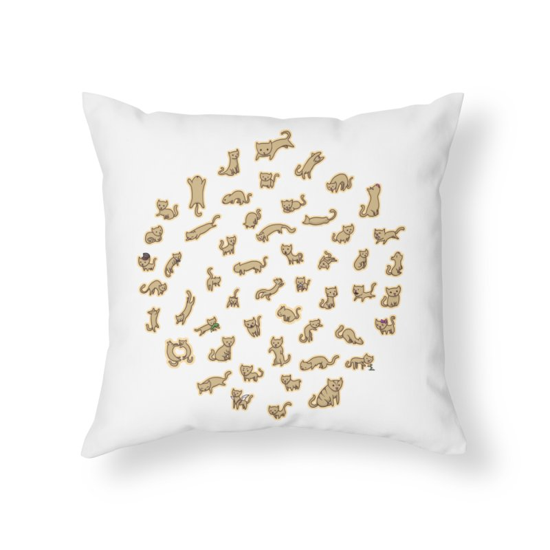 CATS Home Throw Pillow by nireleetsac's Artist Shop