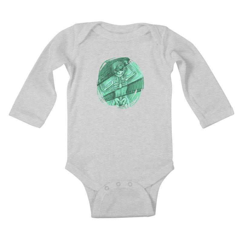 Strange X-ray Kids Baby Longsleeve Bodysuit by nireleetsac's Artist Shop