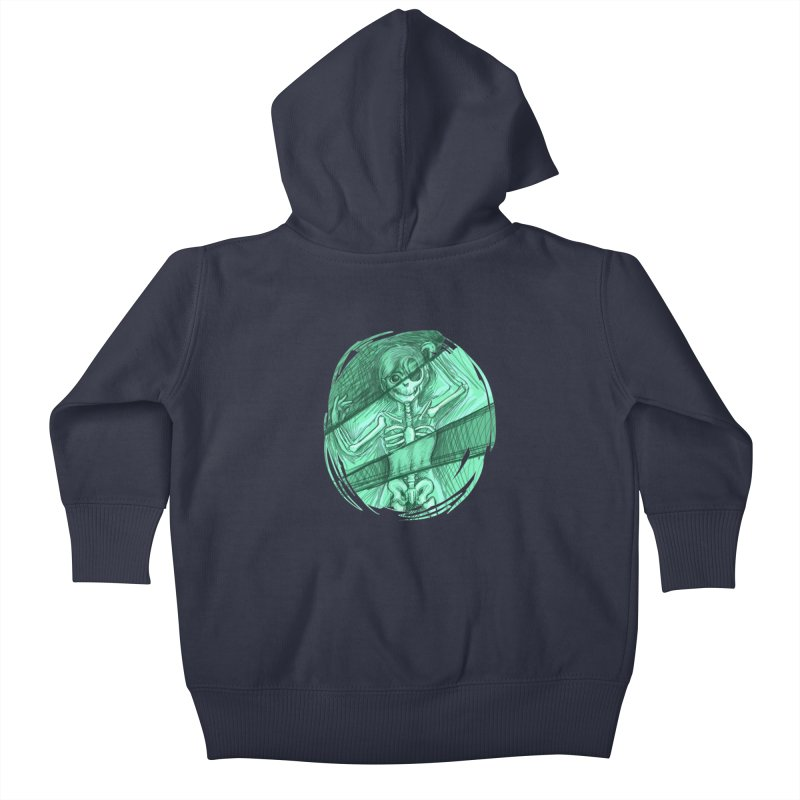 Strange X-ray Kids Baby Zip-Up Hoody by nireleetsac's Artist Shop