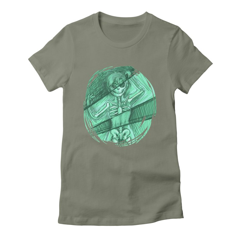Strange X-ray Women's Fitted T-Shirt by nireleetsac's Artist Shop