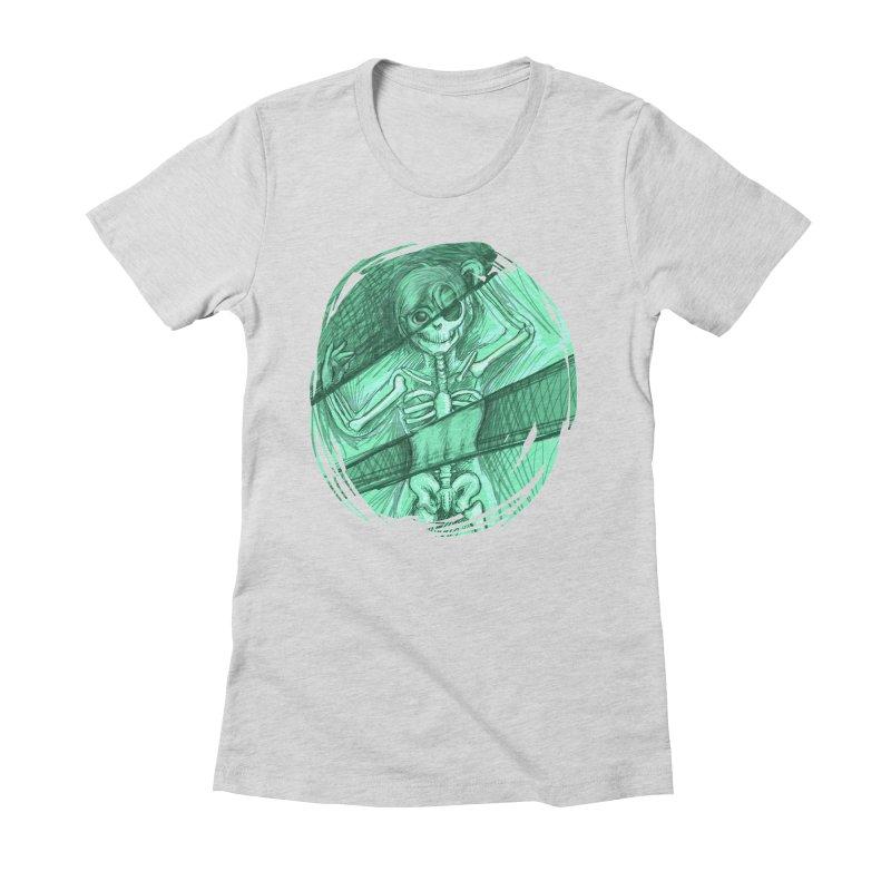 Strange X-ray Women's Fitted T-Shirt by nireleetsac's Artist Shop