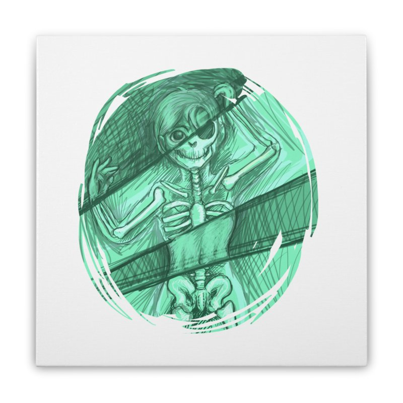 Strange X-ray Home Stretched Canvas by nireleetsac's Artist Shop