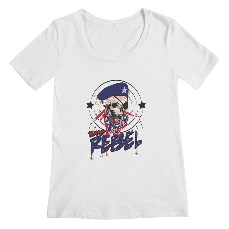 Texas Rebel Women's Scoopneck by nirmata's Shop