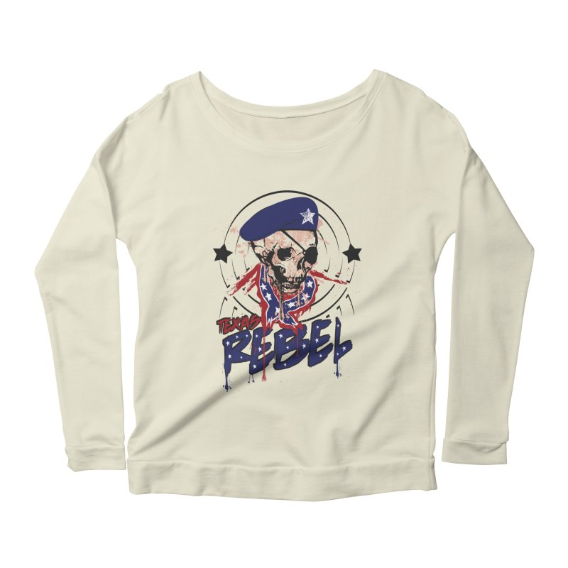 Texas Rebel Women's Longsleeve Scoopneck  by nirmata's Shop