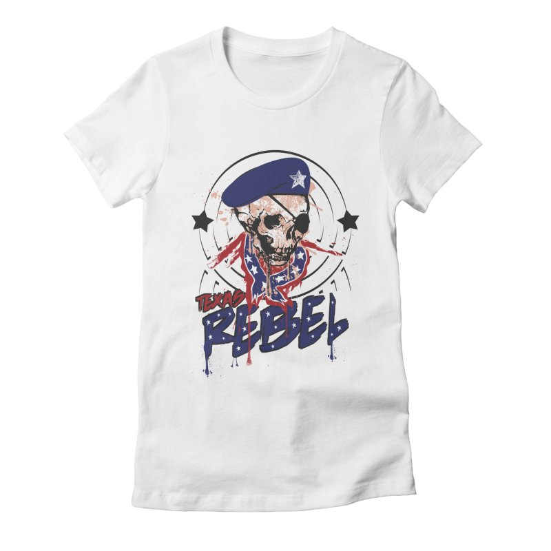 Texas Rebel Women's Fitted T-Shirt by nirmata's Shop