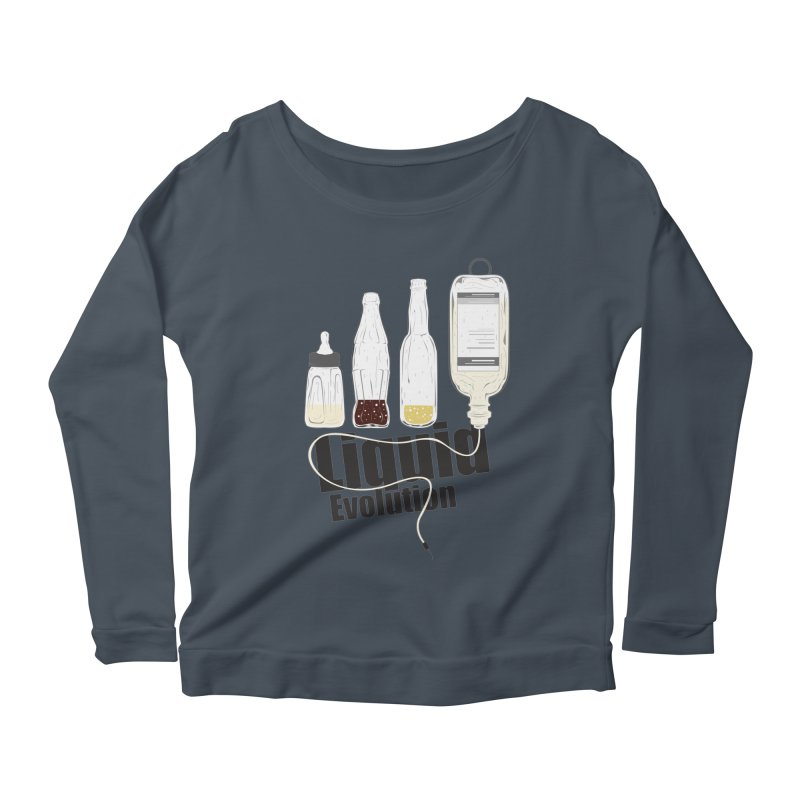 Liquid Evolution Women's Longsleeve Scoopneck  by nirmata's Shop