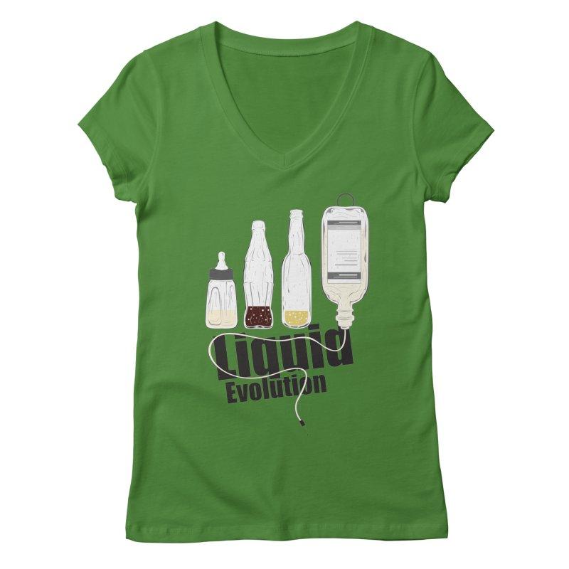Liquid Evolution Women's V-Neck by nirmata's Shop