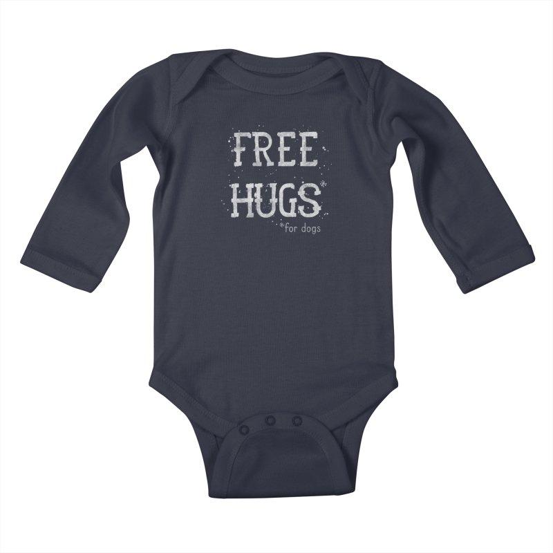 Free Hugs for dogs - white Kids Baby Longsleeve Bodysuit by Nisa Fiin's Artist Shop