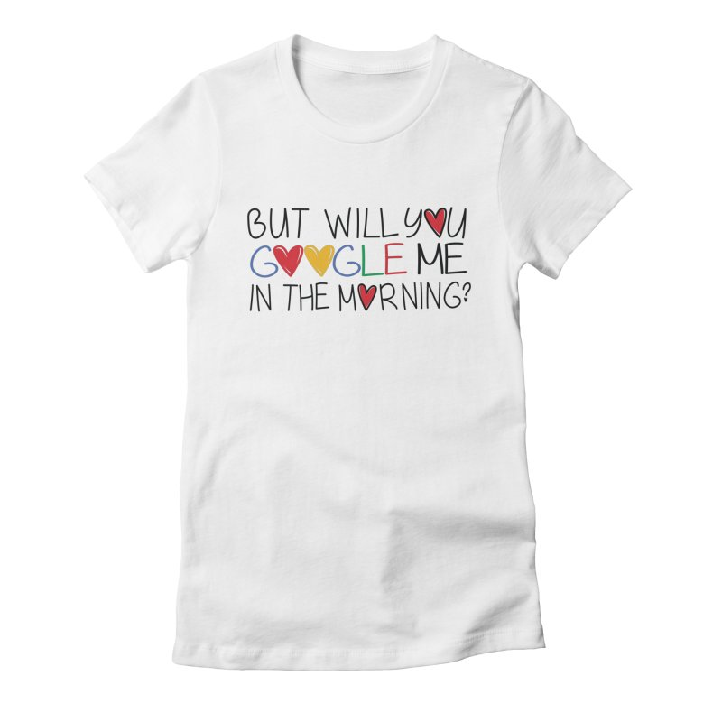 Modern Day Romance Women's Fitted T-Shirt by Fueled By Insomnia