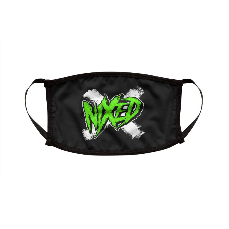 NIXED logo green Accessories Face Mask by NIXED Merch