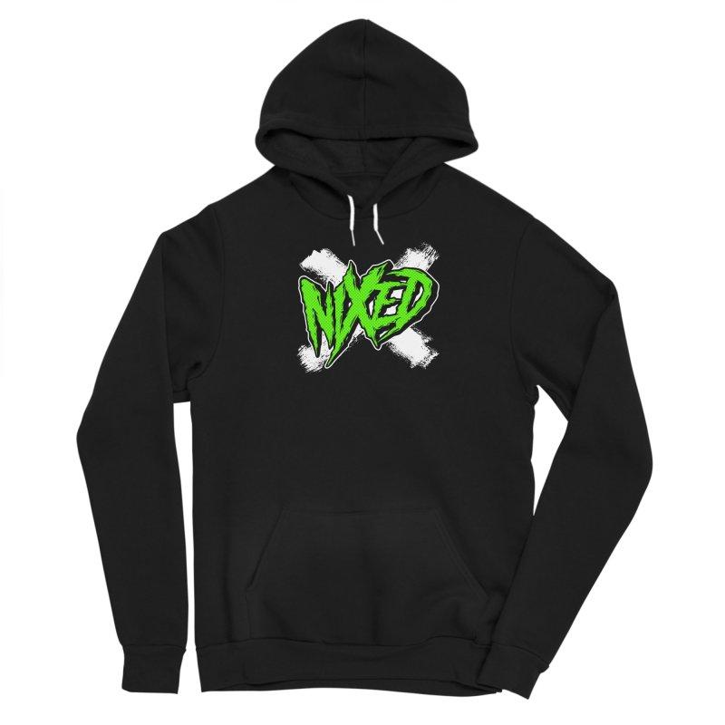 NIXED logo green Women's Pullover Hoody by NIXED Merch