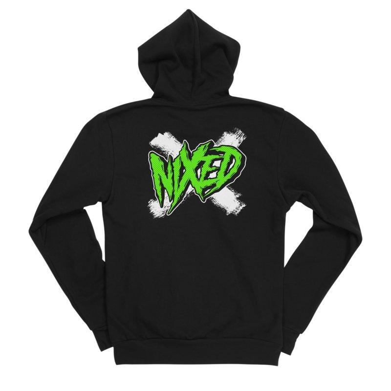 NIXED logo green Women's Zip-Up Hoody by NIXED Merch