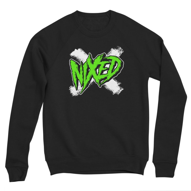 NIXED logo green Men's Sweatshirt by NIXED Merch