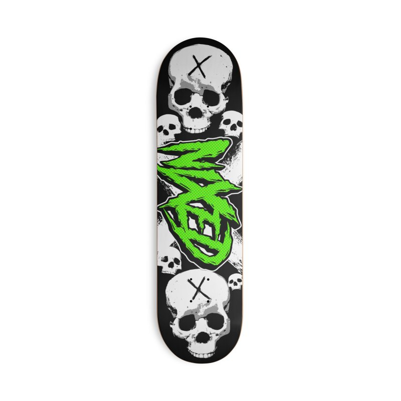 NIXED logo green Accessories Skateboard by NIXED Merch