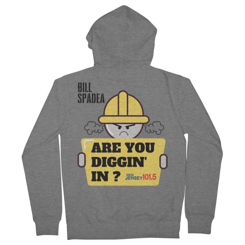 NJ101.5 Bill Spadea Diggin' It Shirt Men's Zip-Up Hoody by NJ101.5's Artist Shop