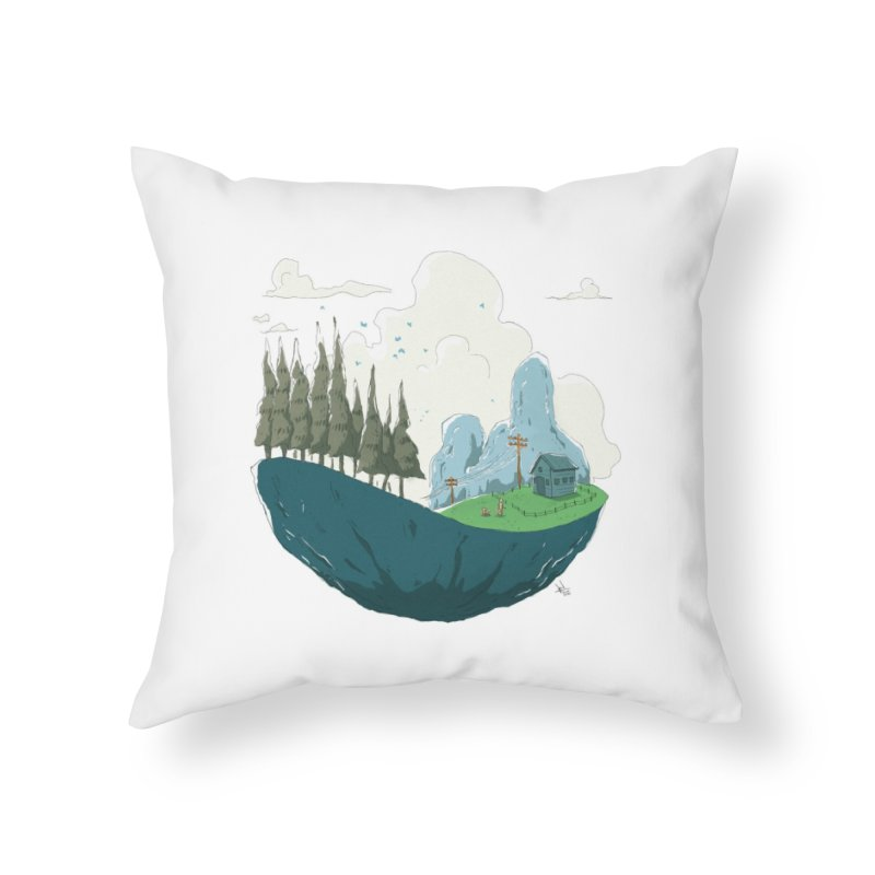 Sky Land Home Throw Pillow by NK Artbox
