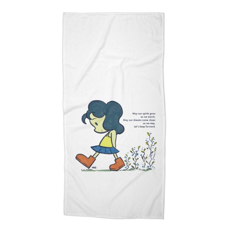 Flower Steps Accessories Beach Towel by NK Artbox