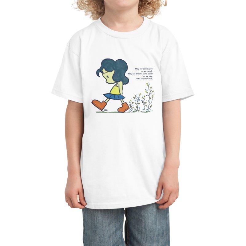 Flower Steps Kids T-Shirt by NK Artbox