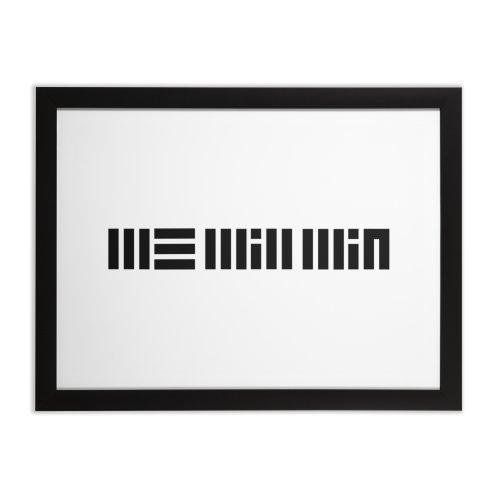 Design for We Will Win (black design)