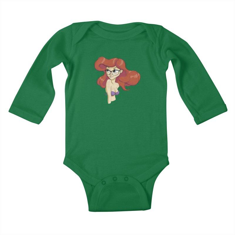 Hipster Mermaid Kids Baby Longsleeve Bodysuit by noaheisenman's Shop