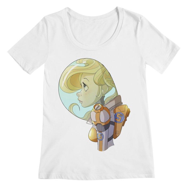 Spacegirl Women's Scoopneck by noaheisenman's Shop