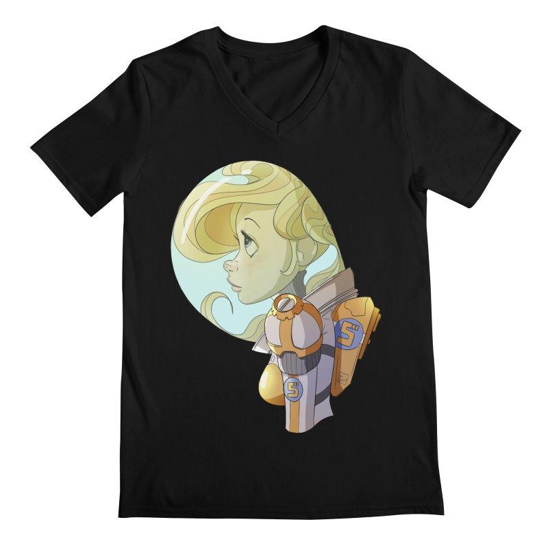 Spacegirl Men's V-Neck by noaheisenman's Shop