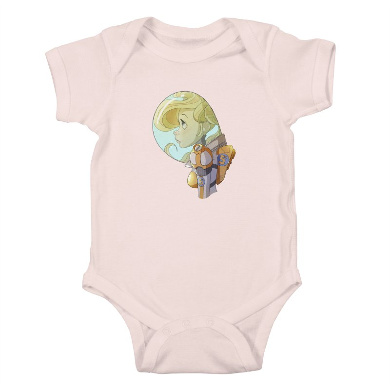 Spacegirl Kids Baby Bodysuit by noaheisenman's Shop