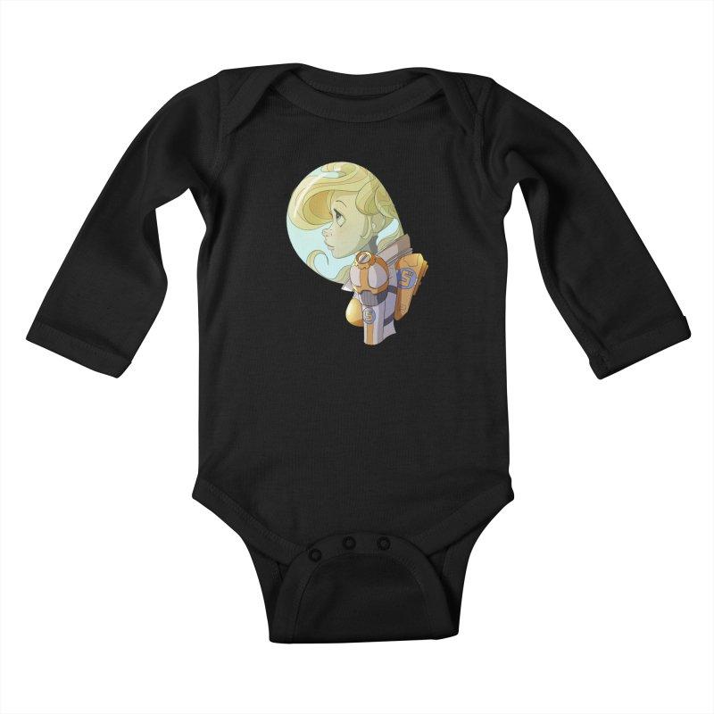 Spacegirl Kids Baby Longsleeve Bodysuit by noaheisenman's Shop