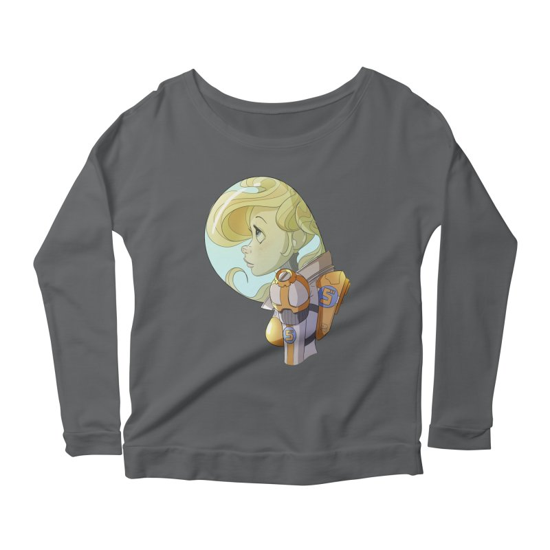 Spacegirl Women's Longsleeve Scoopneck  by noaheisenman's Shop