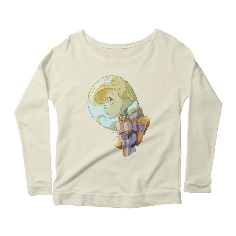 Spacegirl Women's Longsleeve Scoopneck  by noaheisenman's Shop