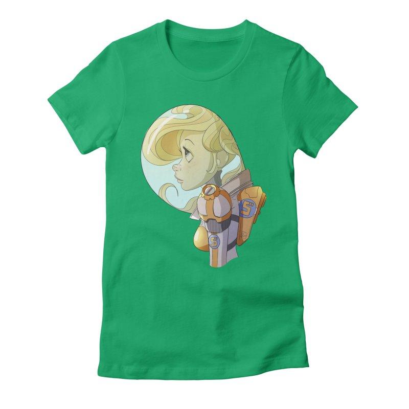 Spacegirl Women's Fitted T-Shirt by noaheisenman's Shop