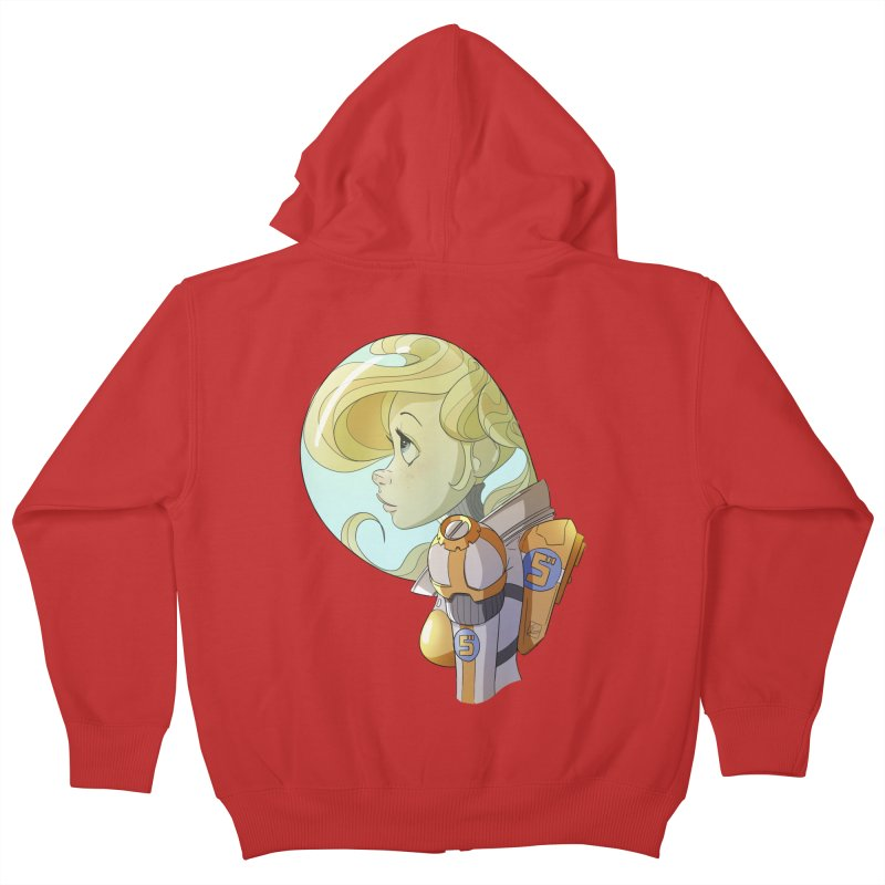 Spacegirl Kids Zip-Up Hoody by noaheisenman's Shop