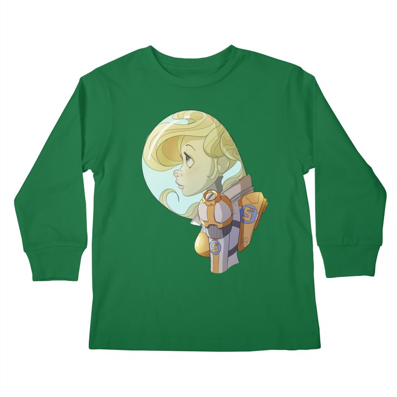 Spacegirl Kids Longsleeve T-Shirt by noaheisenman's Shop