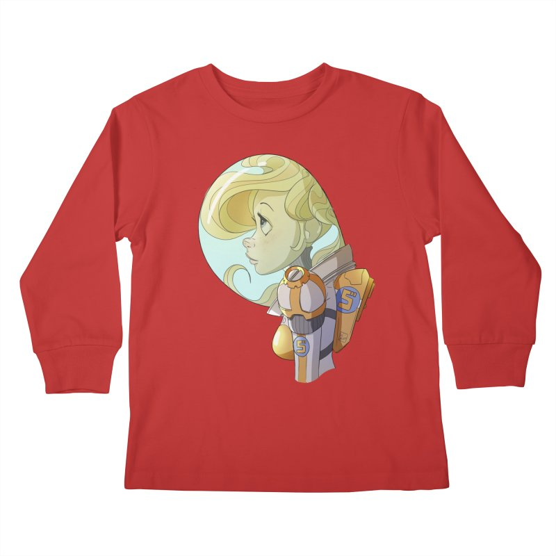 Spacegirl Kids Longsleeve T-Shirt by noaheisenman's Shop
