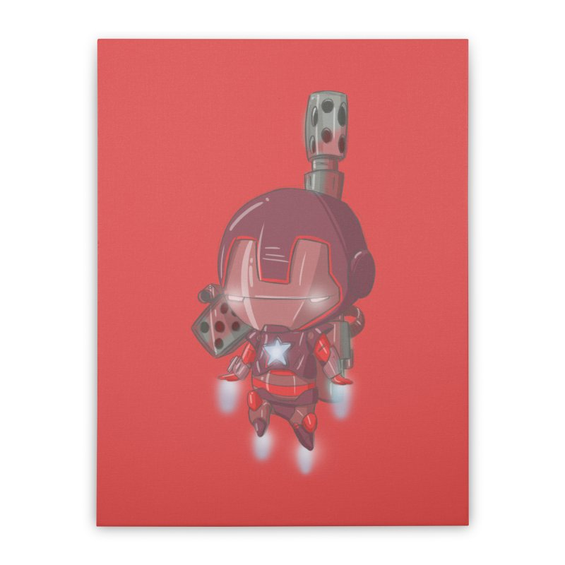 Iron Patriot Cheeb Home Stretched Canvas by noaheisenman's Shop