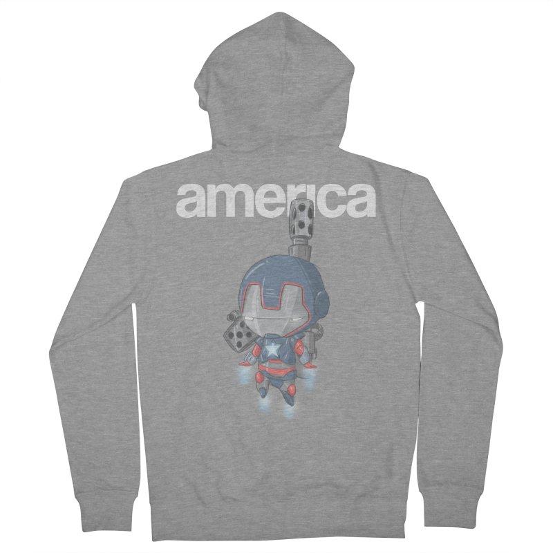 Iron Patriot Cheeb Men's Zip-Up Hoody by noaheisenman's Shop