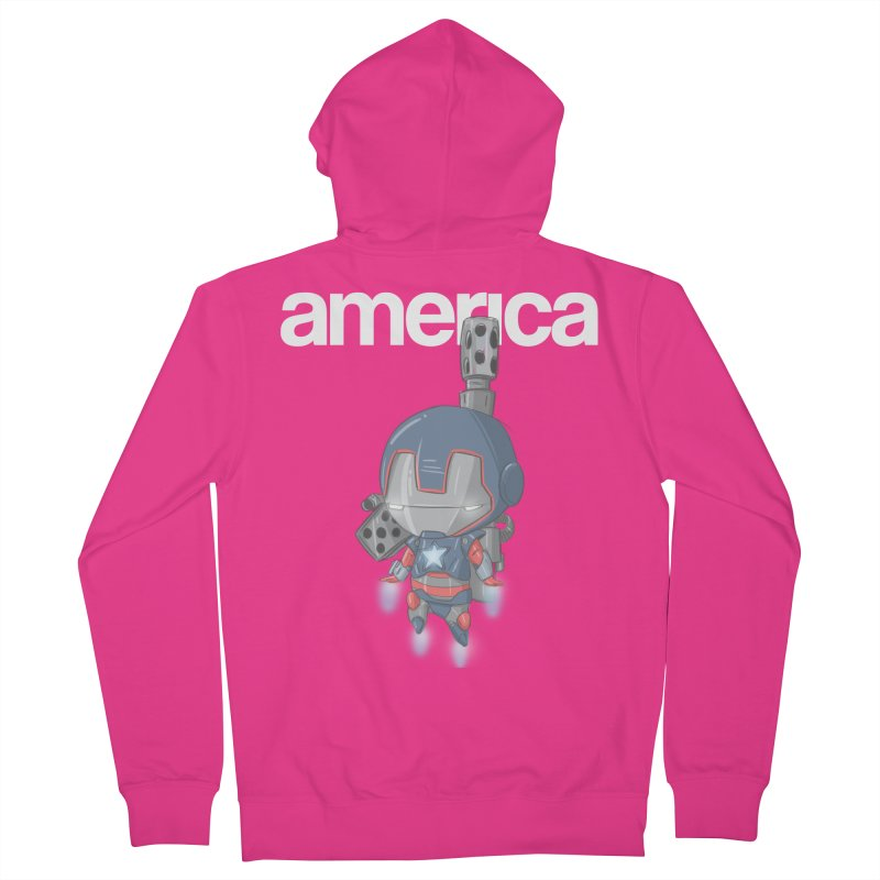 Iron Patriot Cheeb Men's Zip-Up Hoody by noaheisenman's Shop