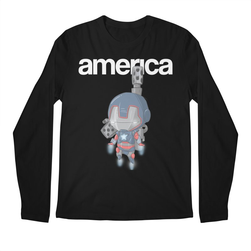 Iron Patriot Cheeb Men's Longsleeve T-Shirt by noaheisenman's Shop