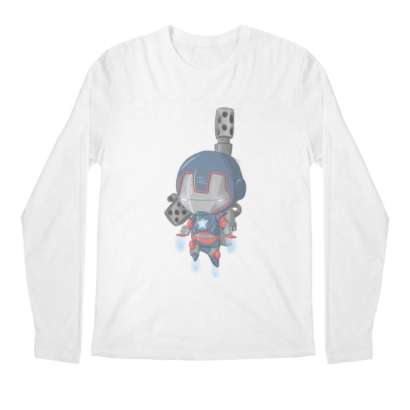 Iron Patriot Cheeb Men's Longsleeve T-Shirt by noaheisenman's Shop