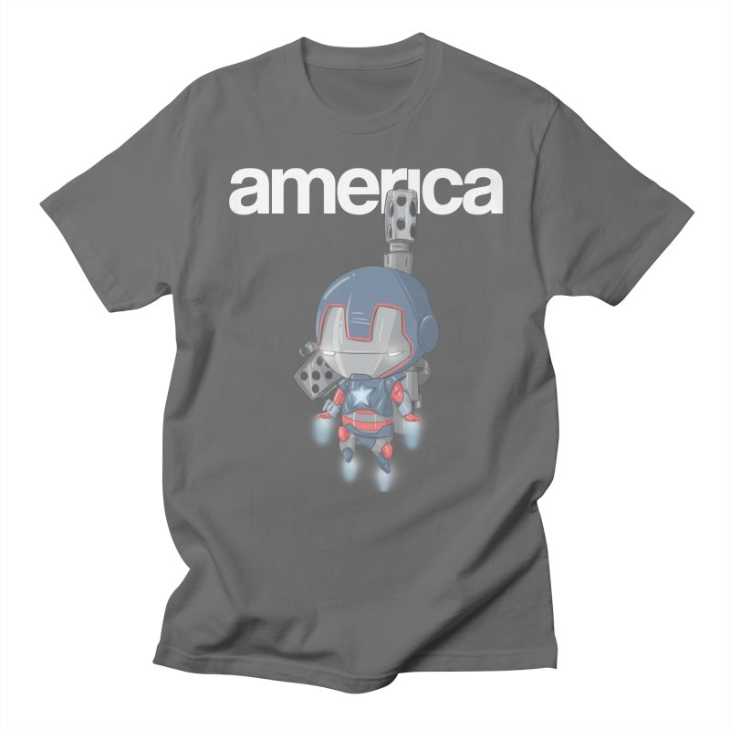 Iron Patriot Cheeb Men's T-Shirt by noaheisenman's Shop