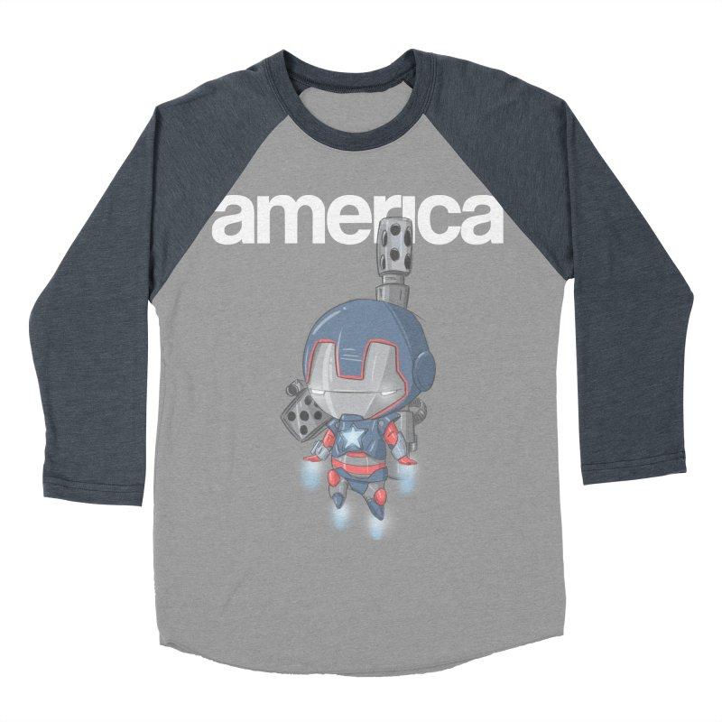 Iron Patriot Cheeb Women's Baseball Triblend T-Shirt by noaheisenman's Shop
