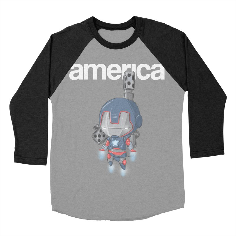 Iron Patriot Cheeb Men's Baseball Triblend T-Shirt by noaheisenman's Shop