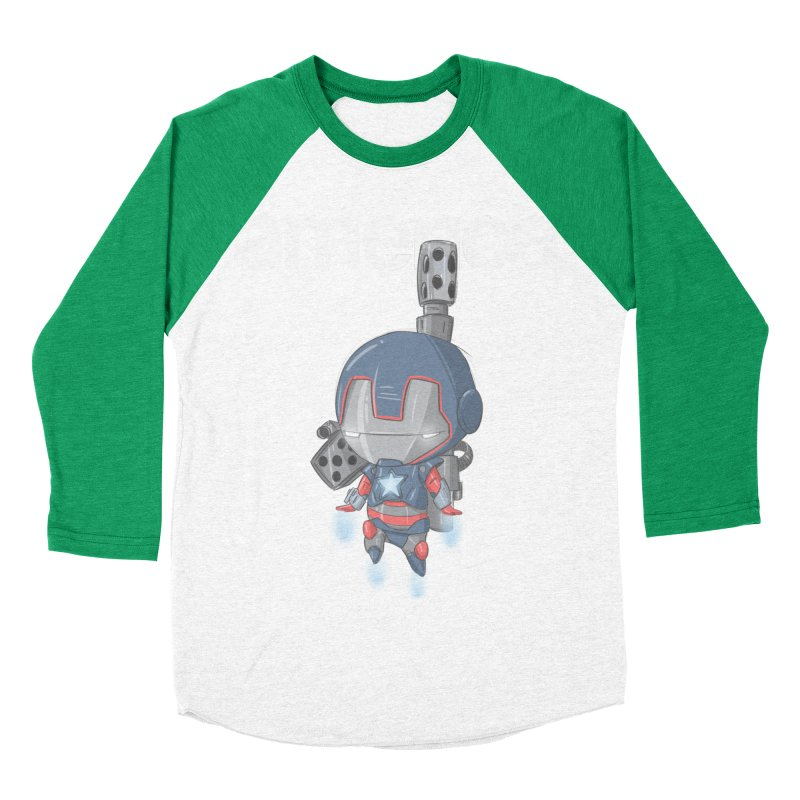 Iron Patriot Cheeb Men's Baseball Triblend T-Shirt by noaheisenman's Shop