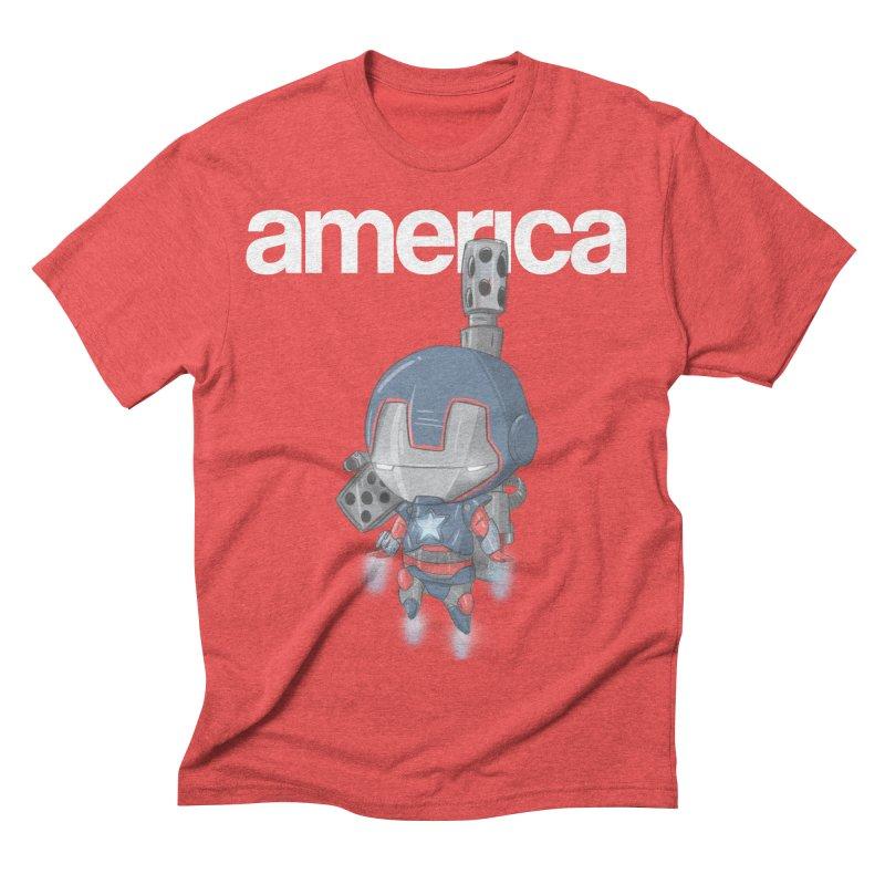 Iron Patriot Cheeb Men's Triblend T-shirt by noaheisenman's Shop