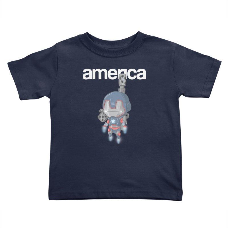 Iron Patriot Cheeb Kids Toddler T-Shirt by noaheisenman's Shop