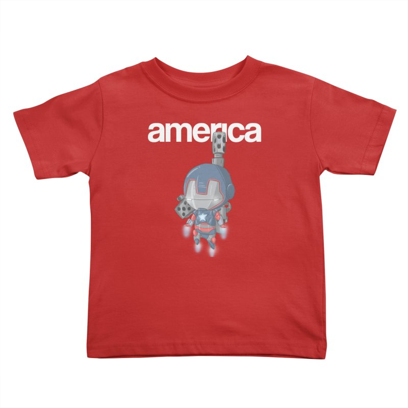 Iron Patriot Cheeb Kids Toddler T-Shirt by noaheisenman's Shop